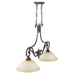 (2 Light) Trestle - Belgium Bronze / Fresco Glass - Nuvo Lighting 60-2725