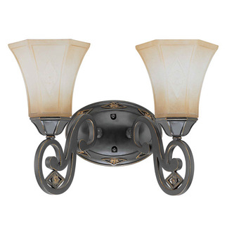 (2 Light) Vanity - Belgium Bronze / Fresco Glass - Nuvo Lighting 60-2734