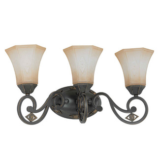 (3 Light) Vanity - Belgium Bronze / Fresco Glass - Nuvo Lighting 60-2735