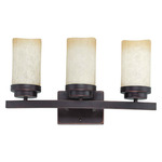 (3 Light) Vanity - Patina Bronze / Saddle Stone Glass - Nuvo Lighting 60-2771 - Residential Light Fixture