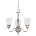(3 Light) Chandelier - Brushed Nickel / Frosted Linen Glass - Nuvo Lighting 60-2773