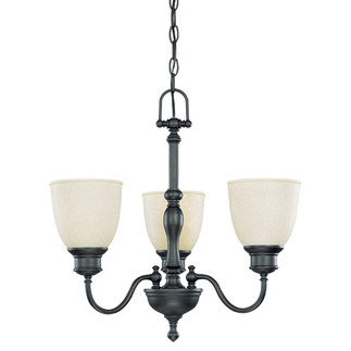 (3 Light) Chandelier - Aged Bronze / Biscotti Glass - Nuvo Lighting 60-2774