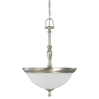 (3 Light) Pendant - Brushed Nickel / Frosted Linen Glass - Nuvo Lighting 60-2782