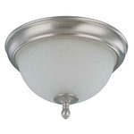 (2 Light) Flush Mount Ceiling Fixture - Brushed Nickel / Frosted Linen Glass - Nuvo Lighting 60-2788