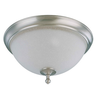 (2 Light) Flush Mount Ceiling Fixture - Brushed Nickel / Frosted Linen Glass - Nuvo Lighting 60-2793