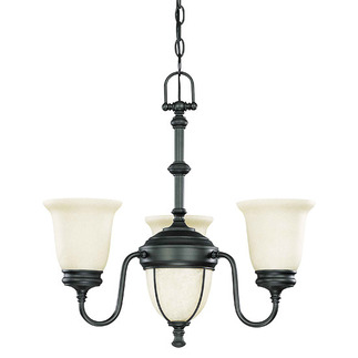 (3 Light) Chandelier - Aged Bronze / Biscotti Glass - Nuvo Lighting 60-2805