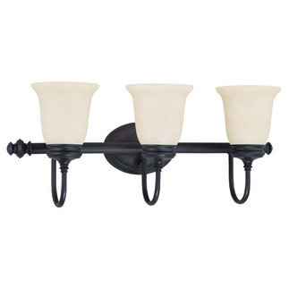 (3 Light) Vanity - Aged Bronze / Biscotti Glass - Nuvo Lighting 60-2835