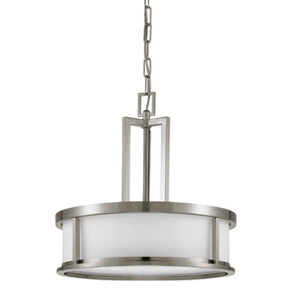 (4 Light) Pendant - Brushed Nickel / Satin White Glass - Nuvo Lighting 60-2857