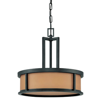 (4 Light) Pendant - Aged Bronze / Parchment Glass - Nuvo Lighting 60-2858 - Residential Light Fixture