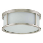 (3 Light) Flush Mount Ceiling Fixture w/Brushed Nickel / Satin White Glass - Nuvo Lighting 60-2864