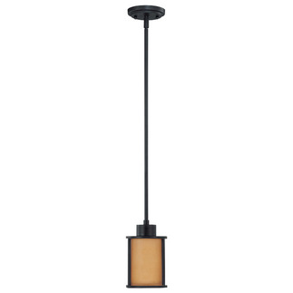 (1 Light) Mini Pendant - Aged Bronze / Parchment Glass - Nuvo Lighting 60-2867