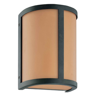 (1 Light) Wall Sconce - Aged Bronze / Parchment Glass - Nuvo Lighting 60-2869 - Residential Light Fixture