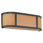 (2 Light) Wall Sconce - Aged Bronze / Parchment Glass - Nuvo Lighting 60-2872
