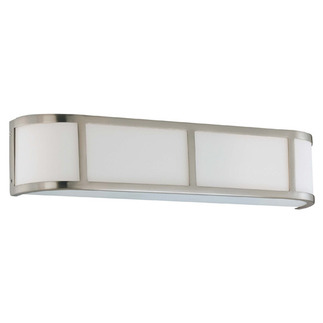 (3 Light) Wall Sconce - Brushed Nickel / Satin White Glass - Nuvo Lighting 60-2873 - Residential Light Fixture