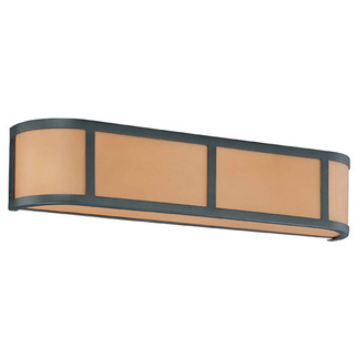 (3 Light) Wall Sconce - Aged Bronze / Parchment Glass - Nuvo Lighting 60-2874