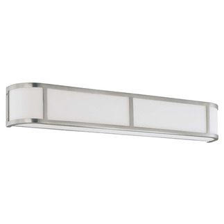 (4 Light) Wall Sconce - Brushed Nickel / Satin White Glass - Nuvo Lighting 60-2875