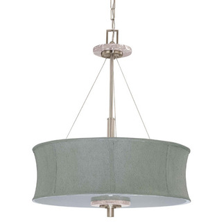(4 Light) Pendant - Brushed Nickel / Grey Fabric - Nuvo Lighting 60-2887
