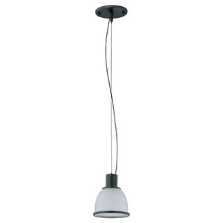 (1 Light) Pendant - Aged Bronze / Frosted Prismatic Glass - Nuvo Lighting 60-2922