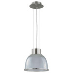 (1 Light) Pendant - Brushed Nickel / Clear Prismatic Glass - Nuvo Lighting 60-2923