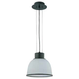 (1 Light) Pendant - Aged Bronze / Frosted Prismatic Glass - Nuvo Lighting 60-2924