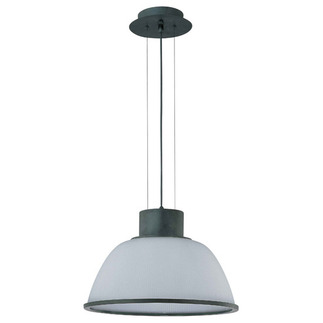 (1 Light) Pendant - Aged Bronze / Frosted Prismatic Glass - Nuvo Lighting 60-2926