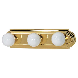 (3 Light) Vanity - Racetrack Style - Polished Brass - Nuvo Lighting 60-308