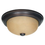 (2 CFL) Flush Mount Ceiling Fixture - Mohogany Bronze / Champagne Glass - Energy Star Qualified - Nuvo Lighting 60-3105