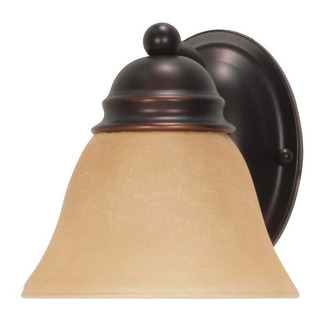 (1 CFL) Vanity - Mahogany Bronze / Champagne Glass - Energy Star Qualified - Nuvo Lighting 60-3125