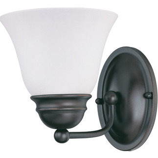 (1 Light) Vanity - Mahogany Bronze / Frosted White Glass - Nuvo Lighting 60-3165