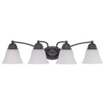 (4 Light) Vanity - Mahogany Bronze / Frosted White Glass - Nuvo Lighting 60-3168
