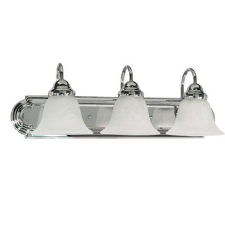 (3 Light) Vanity - Polished Chrome / Alabaster Glass Bell - Nuvo Lighting 60-317