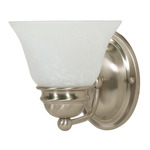 (1 CFL) Vanity - Brushed Nickel / Alabaster Glass - Energy Star Qualified - Nuvo Lighting 60-3204