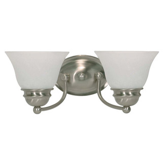 (2 CFL) Vanity - Brushed Nickel / Alabaster Glass - Energy Star Qualified - Nuvo Lighting 60-3205