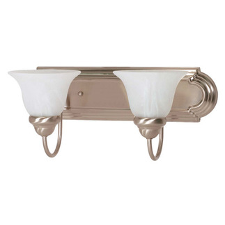 (2 CFL) Vanity - Brushed Nickel / Alabaster Glass - Energy Star Qualified - Nuvo Lighting 60-3208
