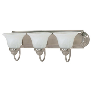 (3 CFL) Vanity - Brushed Nickel / Alabaster Glass - Energy Star Qualified - Nuvo Lighting 60-3209