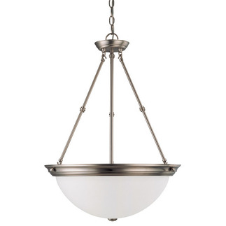 (3 Light) Pendant - Brushed Nickel / Frosted White Glass - Nuvo Lighting 60-3248