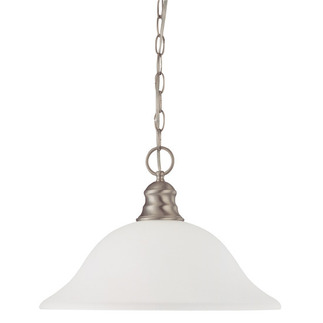 (1 Light) Pendant - Brushed Nickel / Frosted White Glass - Nuvo Lighting 60-3258