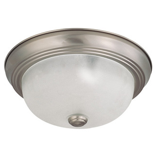 (2 Light) Flush Mount Ceiling Fixture - Brushed Nickel / Frosted White Glass - Nuvo Lighting 60-3261