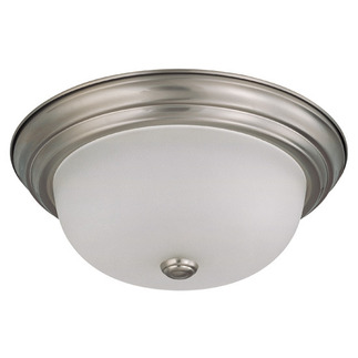 (2 Light) Flush Mount Ceiling Fixture - Brushed Nickel / Frosted White Glass - Nuvo Lighting 60-3262
