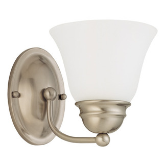 (1 Light) Vanity - Brushed Nickel / Frosted White Glass - Nuvo Lighting 60-3264