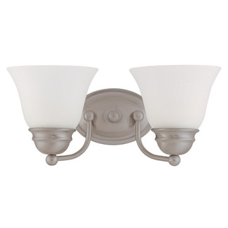 (2 Light) Vanity - Brushed Nickel / Frosted White Glass - Nuvo Lighting 60-3265