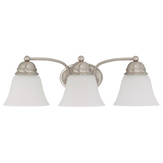 (3 Light) Vanity - Brushed Nickel / Frosted White Glass - Nuvo Lighting 60-3266