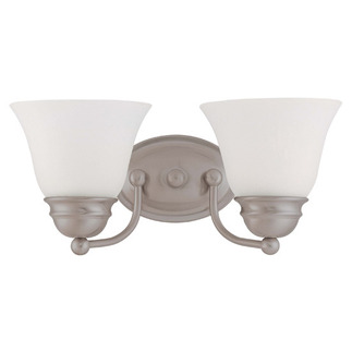 (2 CFL) Vanity - Brushed Nickel / Frosted White Glass - Energy Star Qualified - Nuvo Lighting 60-3318
