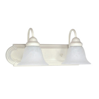 (2 Light) Vanity - Textured White / Alabaster Glass Bell - Nuvo Lighting 60-332 - Residential Light Fixture