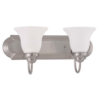 (2 CFL) Vanity - Brushed Nickel / Frosted White Glass - Energy Star Qualified - Nuvo Lighting 60-3322