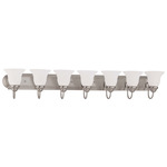 (7 CFL) Vanity - Brushed Nickel / Frosted White Glass - Energy Star Qualified - Nuvo Lighting 60-3327