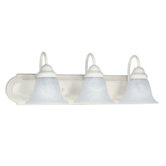 (3 Light) Vanity - Textured White / Alabaster Glass Bell - Nuvo Lighting 60-333