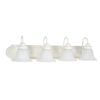 (4 Light) Vanity - Textured White / Alabaster Glass Bell - Nuvo Lighting 60-334 - Residential Light Fixture