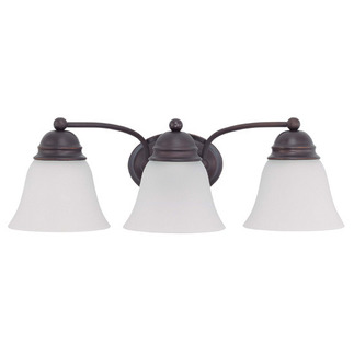 (3 CFL) Vanity - Mahogany Bronze / Frosted White Glass - Energy Star Qualified - Nuvo Lighting 60-3357
