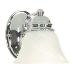 (1 Light) Vanity - Polished Chrome / Alabaster Glass Bell - Nuvo Lighting 60-336